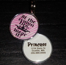 Personalized Pet ID Tag - If the Crown Fits