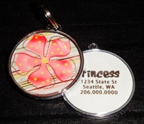 Personalized Pet ID Tag - Pastel Pretties in Orange