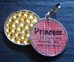Personalized Pet Rhinestone  ID Tag - Red Basketweave - petel-redbasket