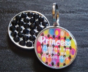 Personalized Pet Rhinestone  ID Tag - Retro Dots kosher, hanukkah, toy, jewish, toy, puppy bed,  beds,dog mat, pet mat, puppy mat, fab dog pet sweater, dog swepet clothes, dog clothes, puppy clothes, pet store, dog store, puppy boutique store, dog boutique, pet boutique, puppy boutique, Bloomingtails, dog, small dog clothes, large dog clothes, large dog costumes, small dog costumes, pet stuff, Halloween dog, puppy Halloween, pet Halloween, clothes, dog puppy Halloween, dog sale, pet sale, puppy sale, pet dog tank, pet tank, pet shirt, dog shirt, puppy shirt,puppy tank, I see spot, dog collars, dog leads, pet collar, pet lead,puppy collar, puppy lead, dog toys, pet toys, puppy toy, dog beds, pet beds, puppy bed,  beds,dog mat, pet mat, puppy mat, fab dog pet sweater, dog sweater, dog winte