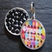 Personalized Pet Rhinestone  ID Tag - Retro Dots - petel-Retrodotss
