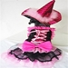 Pink Bow  Dog Witch LED Costume - pampet-pink-witch