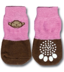 Pink & Brown Monkey Print Dog Socks   puppy bed,  beds,dog mat, pet mat, puppy mat, fab dog pet sweater, dog swepet clothes, dog clothes, puppy clothes, pet store, dog store, puppy boutique store, dog boutique, pet boutique, puppy boutique, Bloomingtails, dog, small dog clothes, large dog clothes, large dog costumes, small dog costumes, pet stuff, Halloween dog, puppy Halloween, pet Halloween, clothes, dog puppy Halloween, dog sale, pet sale, puppy sale, pet dog tank, pet tank, pet shirt, dog shirt, puppy shirt,puppy tank, I see spot, dog collars, dog leads, pet collar, pet lead,puppy collar, puppy lead, dog toys, pet toys, puppy toy, dog beds, pet beds, puppy bed,  beds,dog mat, pet mat, puppy mat, fab dog pet sweater, dog sweater, dog winter, pet winter,dog raincoat, pet rai
