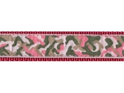 Pink Camo Collar, Lead & Harness 3/4 inch
