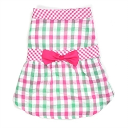 Pink Check Plaid Dog Dress    pet clothes, dog clothes, puppy clothes, pet store, dog store, puppy boutique store, dog boutique, pet boutique, puppy boutique, Bloomingtails, dog, small dog clothes, large dog clothes, large dog costumes, small dog costumes, pet stuff, Halloween dog, puppy Halloween, pet Halloween, clothes, dog puppy Halloween, dog sale, pet sale, puppy sale, pet dog tank, pet tank, pet shirt, dog shirt, puppy shirt,puppy tank, I see spot, dog collars, dog leads, pet collar, pet lead,puppy collar, puppy lead, dog toys, pet toys, puppy toy, dog beds, pet beds, puppy bed,  beds,dog mat, pet mat, puppy mat, fab dog pet sweater, dog sweater, dog winter, pet winter,dog raincoat, pet raincoat, dog harness, puppy harness, pet harness, dog collar, dog lead, pet l
