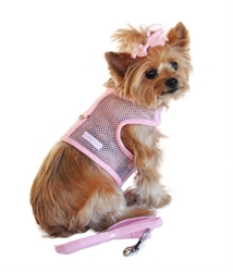 Pink Cool Mesh Dog Harness with Leash   wooflink, susan lanci, dog clothes, small dog clothes, urban pup, pooch outfitters, dogo, hip doggie, doggie design, small dog dress, pet clotes, dog boutique. pet boutique, bloomingtails dog boutique, dog raincoat, dog rain coat, pet raincoat, dog shampoo, pet shampoo, dog bathrobe, pet bathrobe, dog carrier, small dog carrier, doggie couture, pet couture, dog football, dog toys, pet toys, dog clothes sale, pet clothes sale, shop local, pet store, dog store, dog chews, pet chews, worthy dog, dog bandana, pet bandana, dog halloween, pet halloween, dog holiday, pet holiday, dog teepee, custom dog clothes, pet pjs, dog pjs, pet pajamas, dog pajamas,dog sweater, pet sweater, dog hat, fabdog, fab dog, dog puffer coat, dog winter jacket, dog col