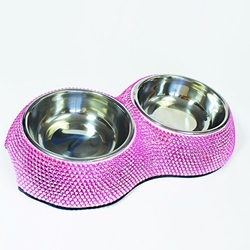 Pink Crystal Dining Bowl  Roxy & Lulu, wooflink, susan lanci, dog clothes, small dog clothes, urban pup, pooch outfitters, dogo, hip doggie, doggie design, small dog dress, pet clotes, dog boutique. pet boutique, bloomingtails dog boutique, dog raincoat, dog rain coat, pet raincoat, dog shampoo, pet shampoo, dog bathrobe, pet bathrobe, dog carrier, small dog carrier, doggie couture, pet couture, dog football, dog toys, pet toys, dog clothes sale, pet clothes sale, shop local, pet store, dog store, dog chews, pet chews, worthy dog, dog bandana, pet bandana, dog halloween, pet halloween, dog holiday, pet holiday, dog teepee, custom dog clothes, pet pjs, dog pjs, pet pajamas, dog pajamas,dog sweater, pet sweater, dog hat, fabdog, fab dog, dog puffer coat, dog winter ja