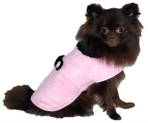 Pink Faux Suede Dog Coat