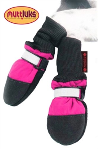 Pink Fleece Lined Dog Muttluk Boots    - digpet-pink-muttluk