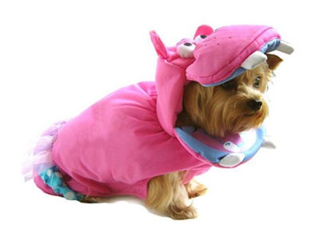 Pink Hippo Dog Costume - pampet-hippo