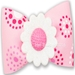 Dog Bows-Pink Lady Dog Hair Bow   - hb-pinklady