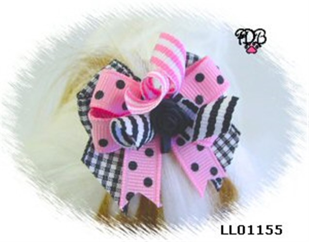 Pink Shadow Korker Boutique Bow