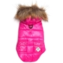Pink Telluride Puffer Dog Jacket  Roxy & Lulu, wooflink, susan lanci, dog clothes, small dog clothes, urban pup, pooch outfitters, dogo, hip doggie, doggie design, small dog dress, pet clotes, dog boutique. pet boutique, bloomingtails dog boutique, dog raincoat, dog rain coat, pet raincoat, dog shampoo, pet shampoo, dog bathrobe, pet bathrobe, dog carrier, small dog carrier, doggie couture, pet couture, dog football, dog toys, pet toys, dog clothes sale, pet clothes sale, shop local, pet store, dog store, dog chews, pet chews, worthy dog, dog bandana, pet bandana, dog halloween, pet halloween, dog holiday, pet holiday, dog teepee, custom dog clothes, pet pjs, dog pjs, pet pajamas, dog pajamas,dog sweater, pet sweater, dog hat, fabdog, fab dog, dog puffer coat, dog winter ja