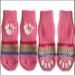 Pink & White Paw Print Dog Socks - dsd-pkpawprintS-2N1