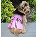 Pink Wool Classic Dog Coat Harness with Fur Collar and Matching Leash   - dd-pink-coat