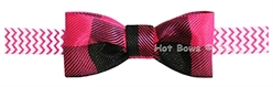 Pink and Black Plaid Bow Tie