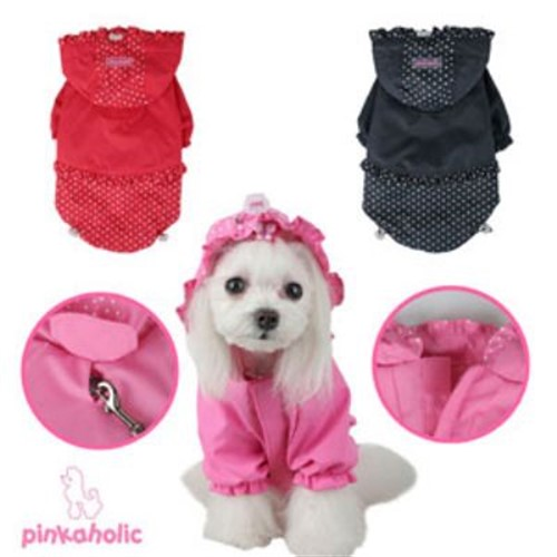 Pinkaholic Jumper Dog Raincoat wooflink, susan lanci, dog clothes, small dog clothes, urban pup, pooch outfitters, dogo, hip doggie, doggie design, small dog dress, pet clotes, dog boutique. pet boutique, bloomingtails dog boutique, dog raincoat, dog rain coat, pet raincoat, dog shampoo, pet shampoo, dog bathrobe, pet bathrobe, dog carrier, small dog carrier, doggie couture, pet couture, dog football, dog toys, pet toys, dog clothes sale, pet clothes sale, shop local, pet store, dog store, dog chews, pet chews, worthy dog, dog bandana, pet bandana, dog halloween, pet halloween, dog holiday, pet holiday, dog teepee, custom dog clothes, pet pjs, dog pjs, pet pajamas, dog pajamas,dog sweater, pet sweater, dog hat, fabdog, fab dog, dog puffer coat, dog winter jacket, dog col