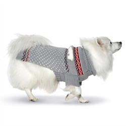 Polar Bears Hand Knit Dog Sweater  Our warm and cozy sweaters are individually hand knit. Perfect for a little extra warmth on cool days, or layered under our coats during chilly winters.  Yarn is 100% acrylic with a soft wool like feel.  Machine wash with like colors and lay flat to dry.  Imported.