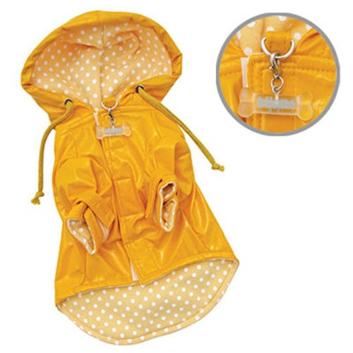 Polka Dot & Daisy Dog  Raincoat - klip-daisy-raincoat