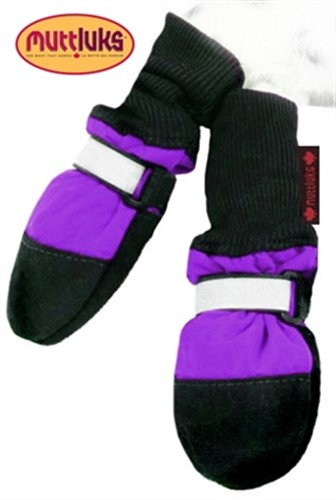 Purple Fleece Lined Dog Muttluk Boots   - digpet-purple-muttluk