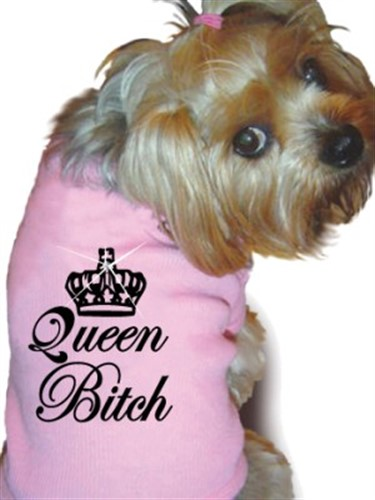 Queen Bitch Dog Tank Shirt - rrm-queenbitch
