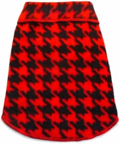 Red & Black Houndstooth Fleece Pullover - iss-houndfleeceX-E7G