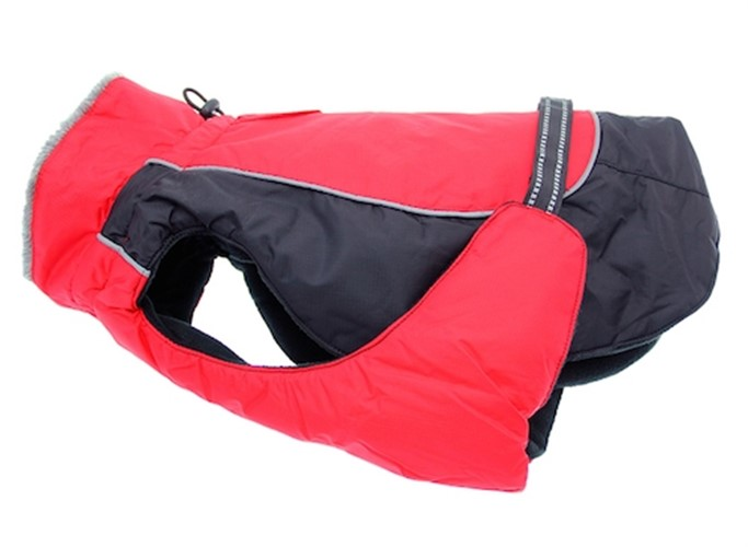 Red & Black Solid Alpine All Weather Coat  - dogdes-alpine-red