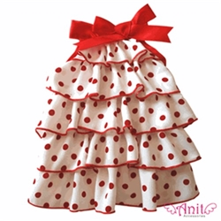 Red Dots Layer Dog Dress