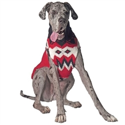 Red Fairisle Dog Sweater
