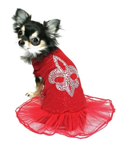 Red Fluer de lis Ballerina Dress - hip-balldress