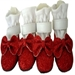 Red Glitter Dog Dress Shoes - pam-redglitter