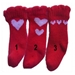 Red Heart Dog Socks   - pampet-redhearts-socks