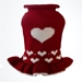Red Heart Dog Sweater Dress     - dal-heart-sweater
