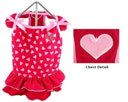 Red Hearts Dog Dress