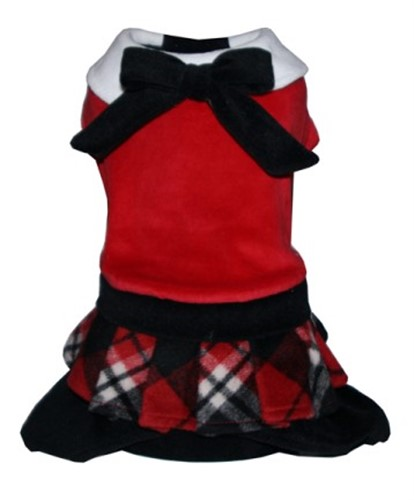 Red Plaid Skirted  Jumper - hip-red-skirtedM-8BD