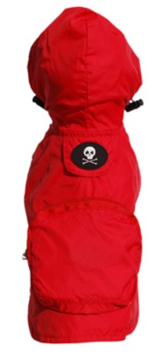 Red Skull Raincoat  wooflink, susan lanci, dog clothes, small dog clothes, urban pup, pooch outfitters, dogo, hip doggie, doggie design, small dog dress, pet clotes, dog boutique. pet boutique, bloomingtails dog boutique, dog raincoat, dog rain coat, pet raincoat, dog shampoo, pet shampoo, dog bathrobe, pet bathrobe, dog carrier, small dog carrier, doggie couture, pet couture, dog football, dog toys, pet toys, dog clothes sale, pet clothes sale, shop local, pet store, dog store, dog chews, pet chews, worthy dog, dog bandana, pet bandana, dog halloween, pet halloween, dog holiday, pet holiday, dog teepee, custom dog clothes, pet pjs, dog pjs, pet pajamas, dog pajamas,dog sweater, pet sweater, dog hat, fabdog, fab dog, dog puffer coat, dog winter jacket, dog col