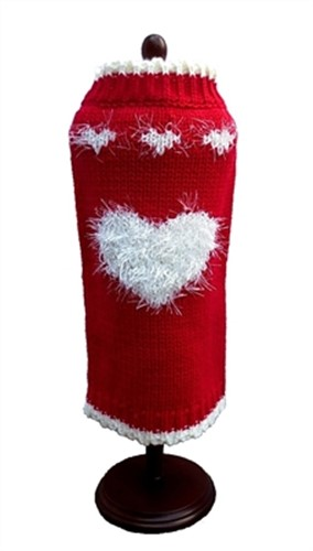 Red Sweetheart Dog Sweater - daldog-redsweet-sweater