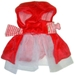 Red Velour & Faux Fur Caplet Dog Dress - MD-fauxfur-dressM-8KB