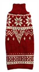 Red & White Alpaca Snowflake Sweater