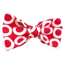 Red & White Circles Bowtie wooflink, susan lanci, dog clothes, small dog clothes, urban pup, pooch outfitters, dogo, hip doggie, doggie design, small dog dress, pet clotes, dog boutique. pet boutique, bloomingtails dog boutique, dog raincoat, dog rain coat, pet raincoat, dog shampoo, pet shampoo, dog bathrobe, pet bathrobe, dog carrier, small dog carrier, doggie couture, pet couture, dog football, dog toys, pet toys, dog clothes sale, pet clothes sale, shop local, pet store, dog store, dog chews, pet chews, worthy dog, dog bandana, pet bandana, dog halloween, pet halloween, dog holiday, pet holiday, dog teepee, custom dog clothes, pet pjs, dog pjs, pet pajamas, dog pajamas,dog sweater, pet sweater, dog hat, fabdog, fab dog, dog puffer coat, dog winter jacket, dog col