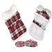 Red and White Plaid Dog Coat   - dd-redplaid-coat