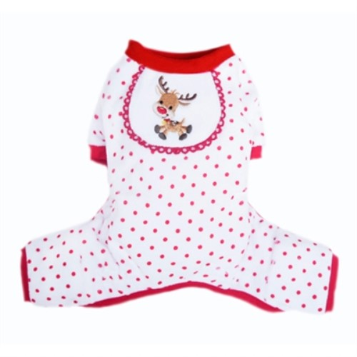 Reindeer Pup Pjs  Roxy & Lulu, wooflink, susan lanci, dog clothes, small dog clothes, urban pup, pooch outfitters, dogo, hip doggie, doggie design, small dog dress, pet clotes, dog boutique. pet boutique, bloomingtails dog boutique, dog raincoat, dog rain coat, pet raincoat, dog shampoo, pet shampoo, dog bathrobe, pet bathrobe, dog carrier, small dog carrier, doggie couture, pet couture, dog football, dog toys, pet toys, dog clothes sale, pet clothes sale, shop local, pet store, dog store, dog chews, pet chews, worthy dog, dog bandana, pet bandana, dog halloween, pet halloween, dog holiday, pet holiday, dog teepee, custom dog clothes, pet pjs, dog pjs, pet pajamas, dog pajamas,dog sweater, pet sweater, dog hat, fabdog, fab dog, dog puffer coat, dog winter ja