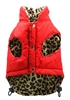 Reversible Puffer Coat - Red Leopard