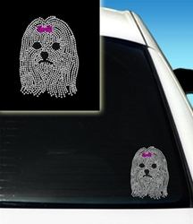 Rhinestone Car Decals - Maltese