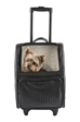 Rio Bag on Wheels in Black Woven - pet-rioblwoven