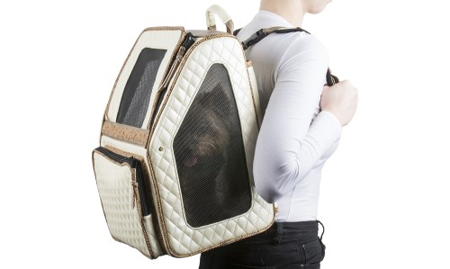 Rio Bag on Wheels in Ivory Quilted - pet-riocivquilted