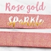 Rose Gold Sparkle Collar & Lead Collection - mg-rosegold