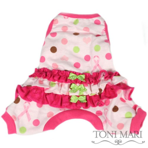 Ruffled Dots & Ribbons Dog Pajamas - tm-dotribS-PY3