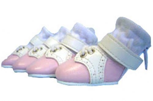 Saddle Shoes for Toy Breed Dogs - Pink & White