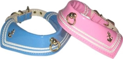 Sailor Patent Collars - Baby Pink or Baby Blue Roxy & Lulu, wooflink, susan lanci, dog clothes, small dog clothes, urban pup, pooch outfitters, dogo, hip doggie, doggie design, small dog dress, pet clotes, dog boutique. pet boutique, bloomingtails dog boutique, dog raincoat, dog rain coat, pet raincoat, dog shampoo, pet shampoo, dog bathrobe, pet bathrobe, dog carrier, small dog carrier, doggie couture, pet couture, dog football, dog toys, pet toys, dog clothes sale, pet clothes sale, shop local, pet store, dog store, dog chews, pet chews, worthy dog, dog bandana, pet bandana, dog halloween, pet halloween, dog holiday, pet holiday, dog teepee, custom dog clothes, pet pjs, dog pjs, pet pajamas, dog pajamas,dog sweater, pet sweater, dog hat, fabdog, fab dog, dog puffer coat, dog winter ja